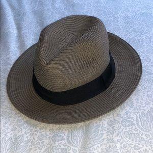 BCBGeneration Panama hat in Greyish Green S